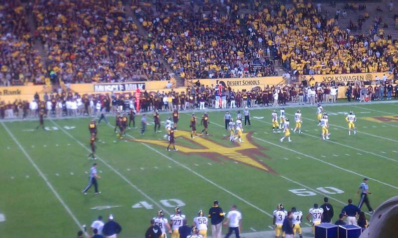 Seating view for Sun Devil Stadium Section 9 Row 32 Seat 27