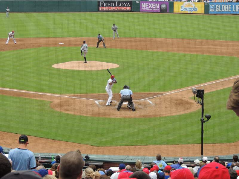 Seating view for Globe Life Park in Arlington Section 25 Row 27 Seat 5