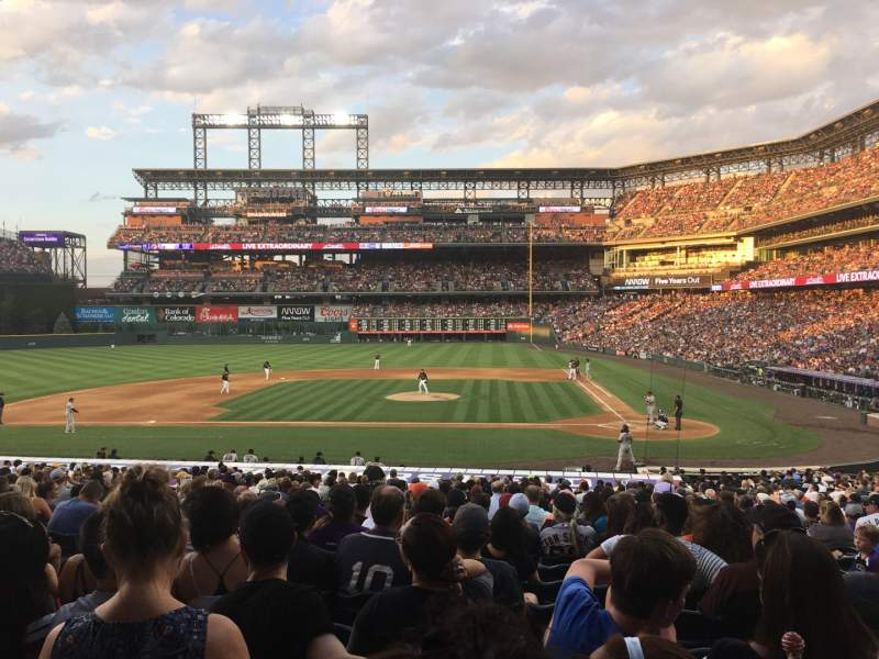 Seating view for Coors Field Section 136 Row 30 Seat 8