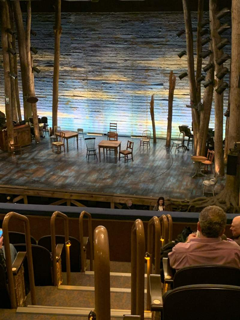 Seating view for Gerald Schoenfeld Theatre Section Mezzanine R Row G Seat 2-4