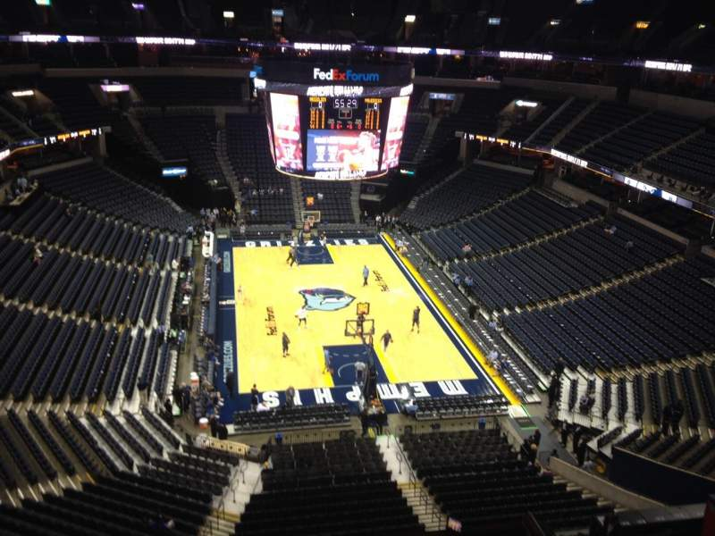 Seating view for FedEx Forum Section 216 Row C Seat 12