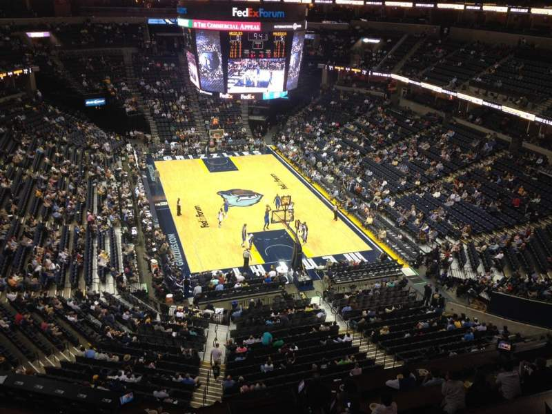 Seating view for FedEx Forum Section 215 Row A Seat 1
