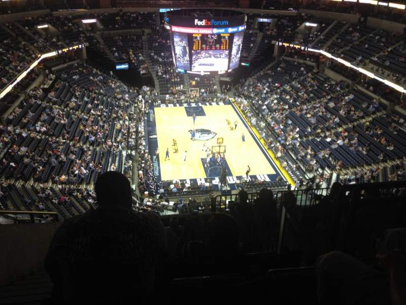 Seating view for FedEx Forum Section 216 Row N Seat 17