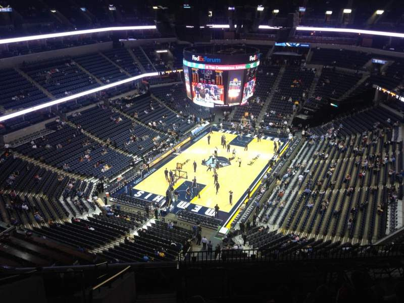 Seating view for FedEx Forum Section 219 Row M Seat 20