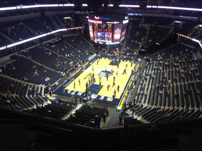 Seating view for FedEx Forum Section 217 Row G Seat 5
