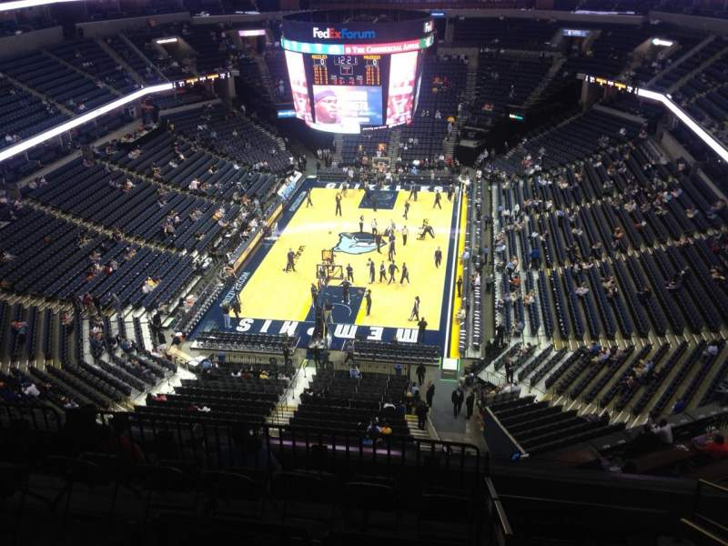 Seating view for FedEx Forum Section 217 Row L Seat 14