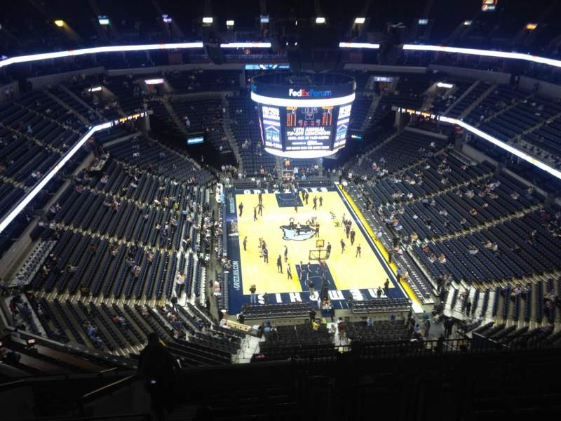 Seating view for FedEx Forum Section 216 Row N Seat 19