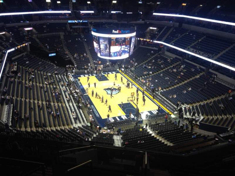 Seating view for FedEx Forum Section 215 Row M Seat 18