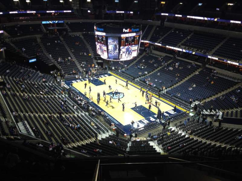 Seating view for FedEx Forum Section 213 Row K Seat 1