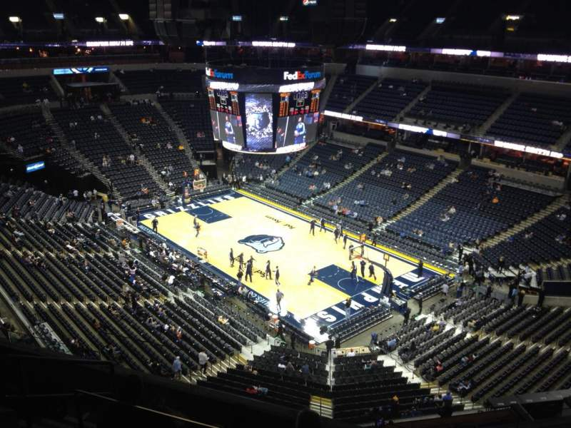 Seating view for FedEx Forum Section 213 Row F Seat 7