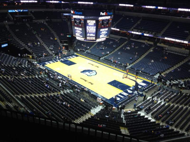 Seating view for FedEx Forum Section 212 Row E Seat 1