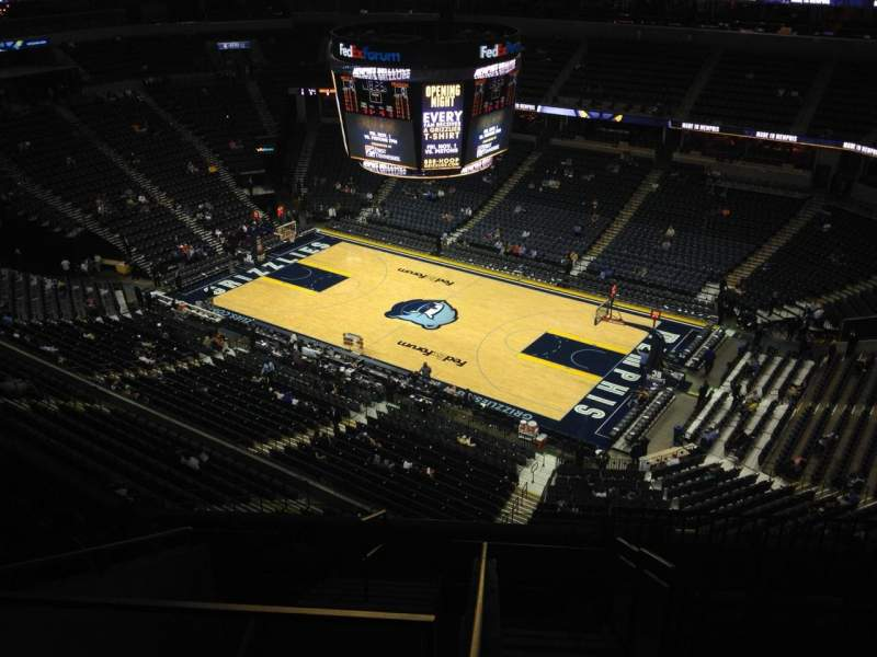 Seating view for FedEx Forum Section 212 Row J Seat 22
