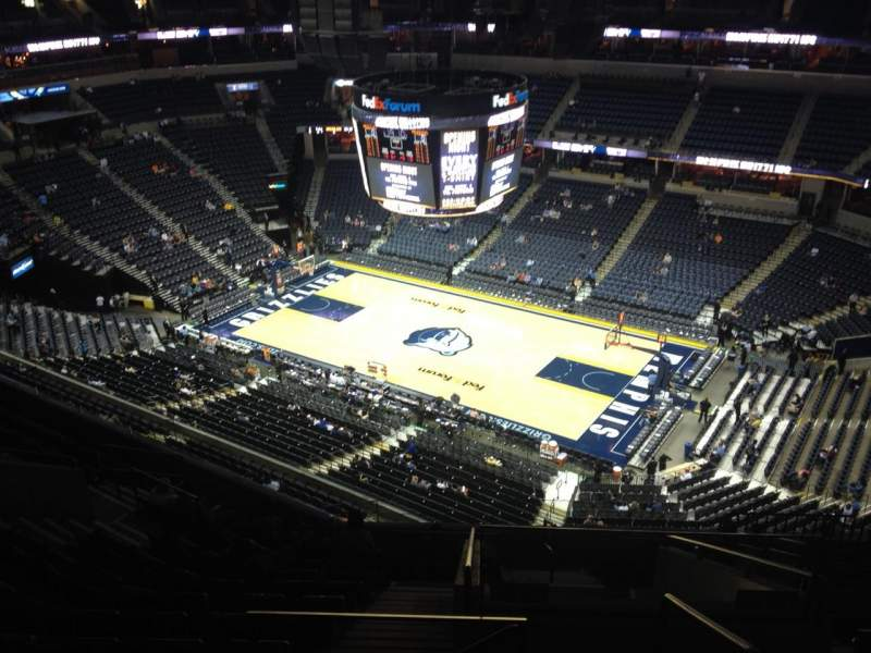 Seating view for FedEx Forum Section 211 Row M Seat 1