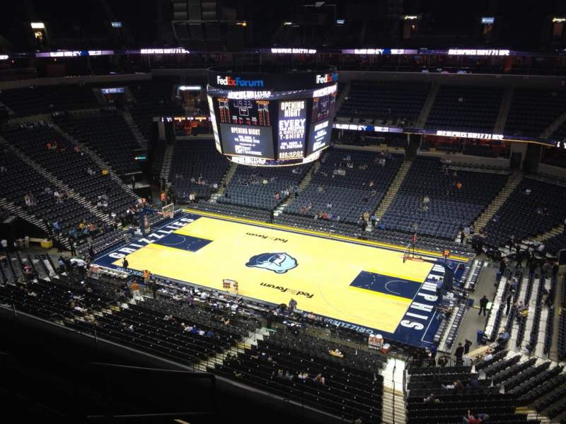 Seating view for FedEx Forum Section 211 Row E Seat 7