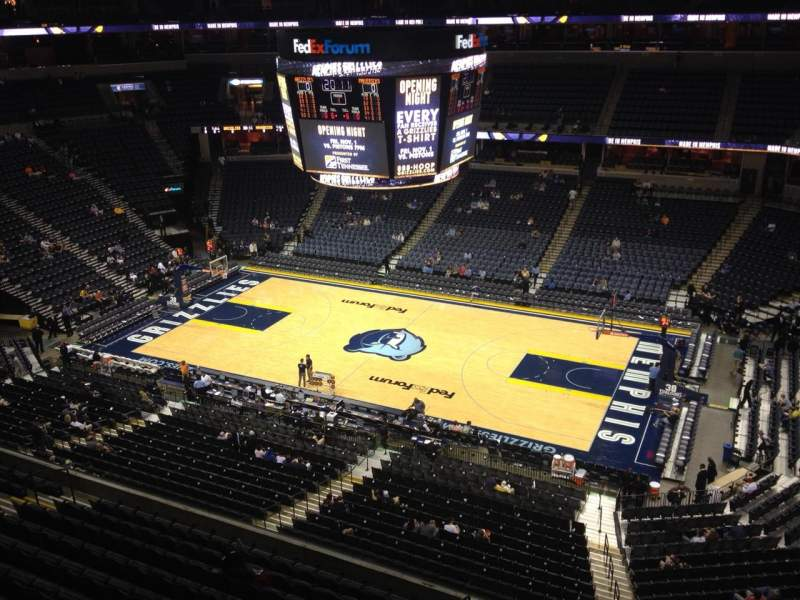 Seating view for FedEx Forum Section 210 Row A Seat 1
