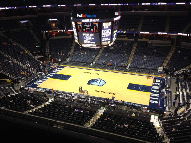 Seating view for FedEx Forum Section 210 Row C Seat 7