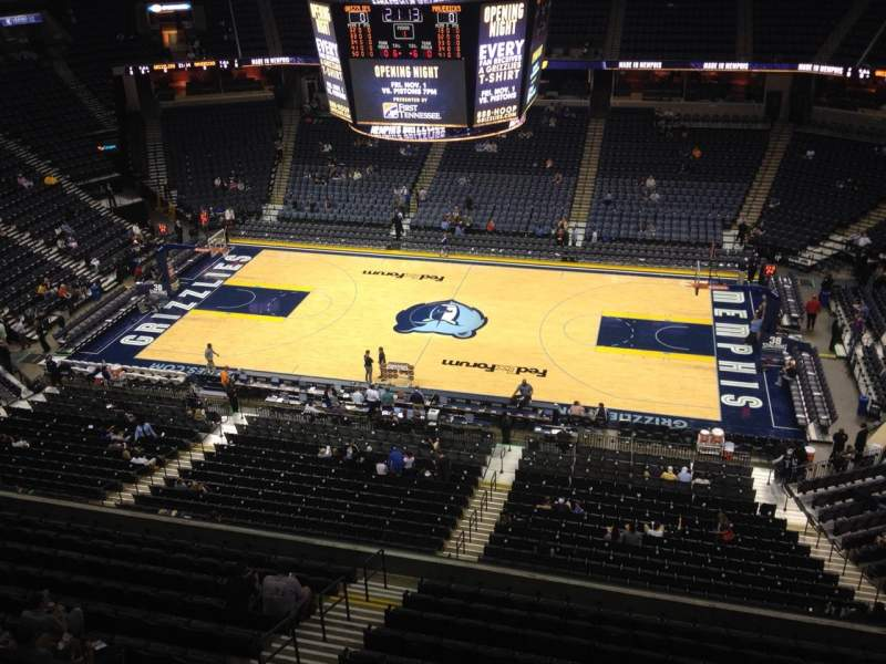 Seating view for FedEx Forum Section 209 Row B Seat 1
