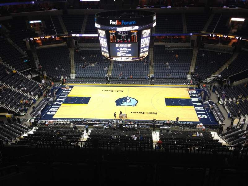 Seating view for FedEx Forum Section 209 Row J Seat 13