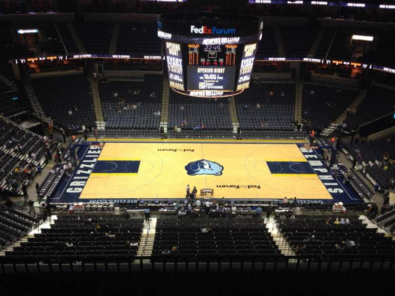 Seating view for FedEx Forum Section 208 Row E Seat 1