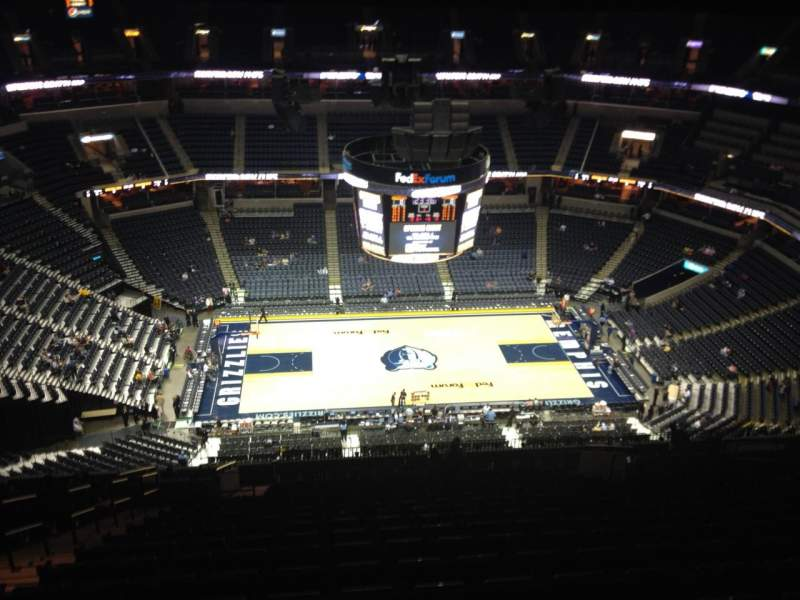 Seating view for FedEx Forum Section 208 Row Z Seat 1