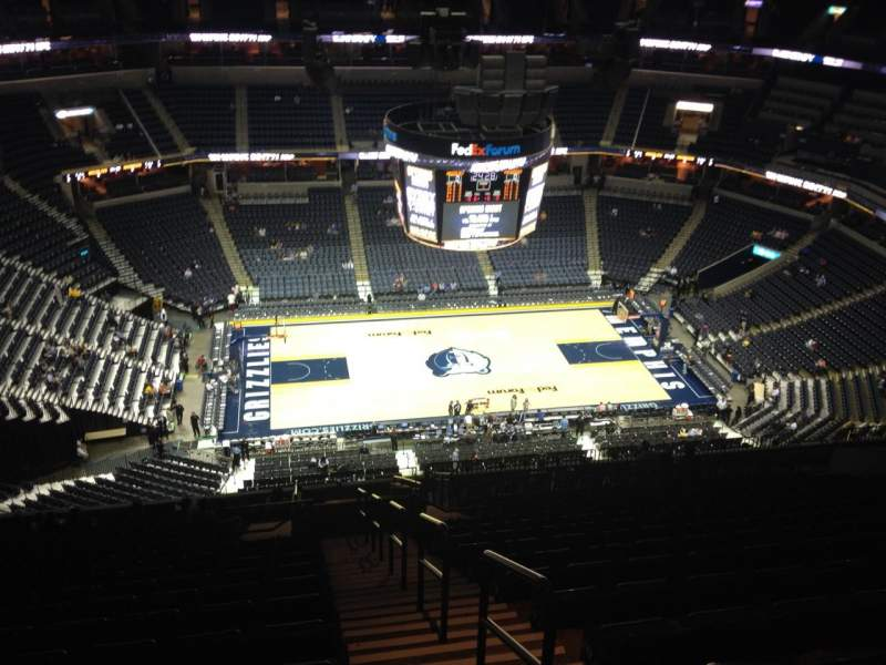 Seating view for FedEx Forum Section 207 Row V Seat 1