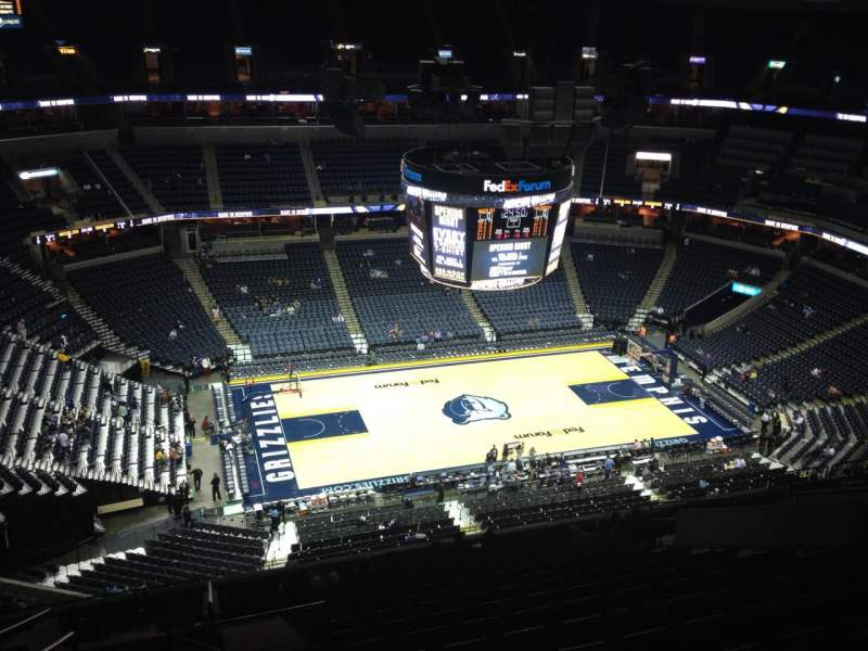 Seating view for FedEx Forum Section 206 Row Q Seat 16