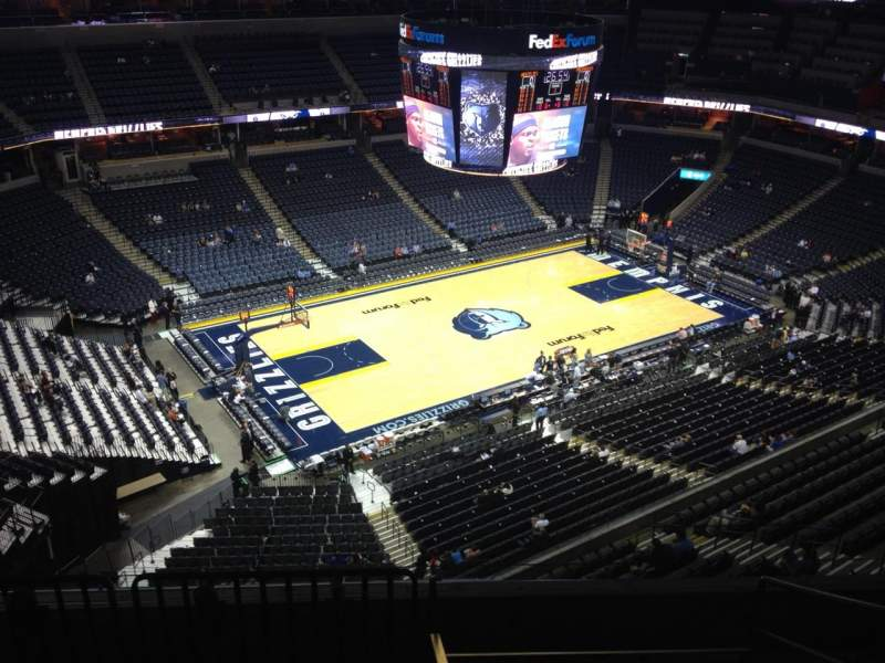 Seating view for FedEx Forum Section 205 Row E Seat 1