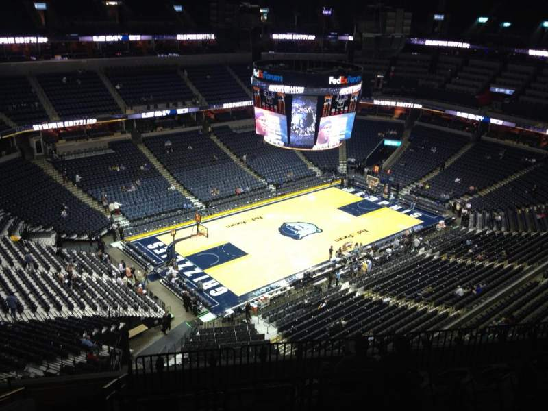 Seating view for FedEx Forum Section 205 Row K Seat 19