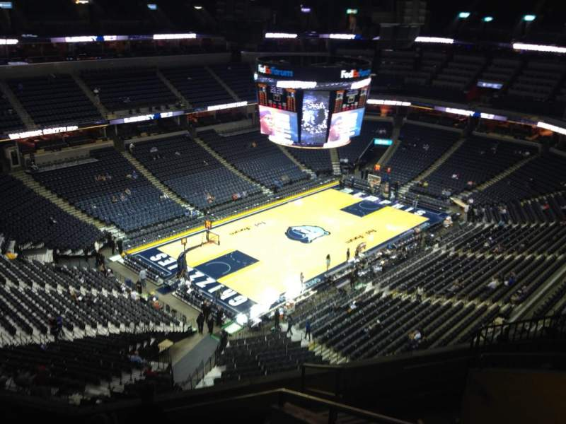 Seating view for FedEx Forum Section 204 Row H Seat 1