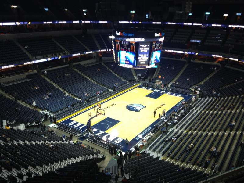 Seating view for FedEx Forum Section 203 Row E Seat 2
