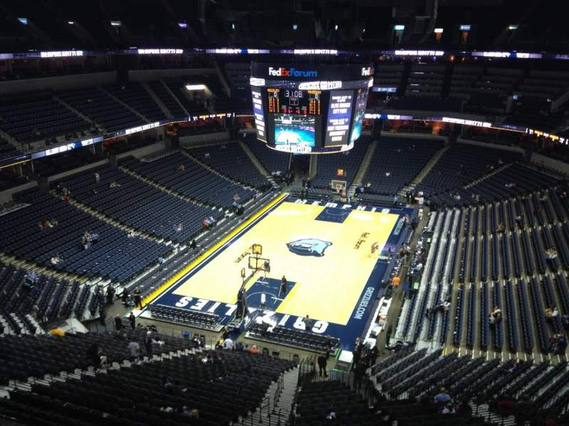 Seating view for FedEx Forum Section 202 Row B Seat 4
