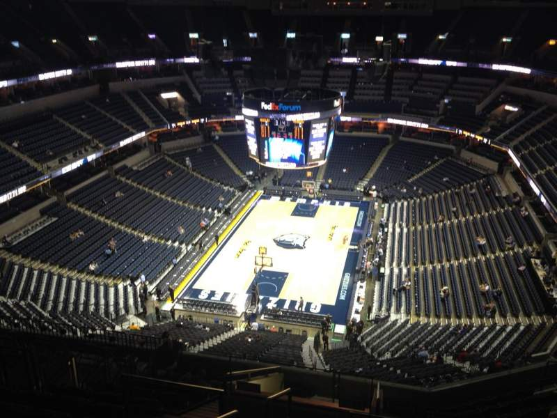 Seating view for FedEx Forum Section 202 Row P Seat 20