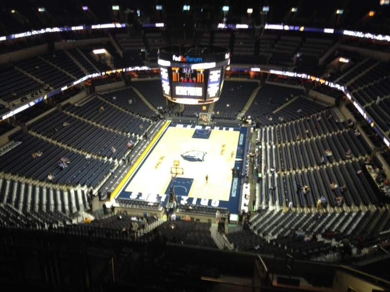 Seating view for FedEx Forum Section 201 Row N Seat 2