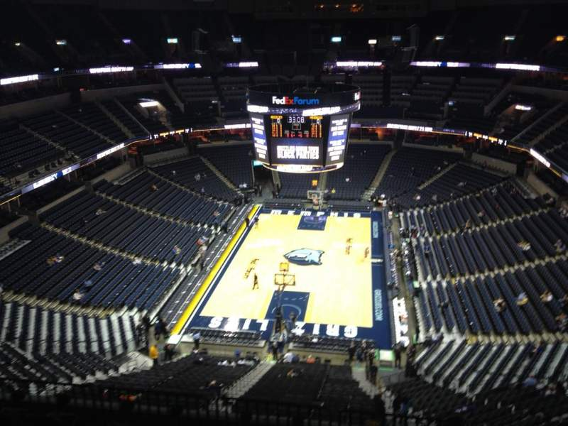 Seating view for FedEx Forum Section 201 Row H Seat 6