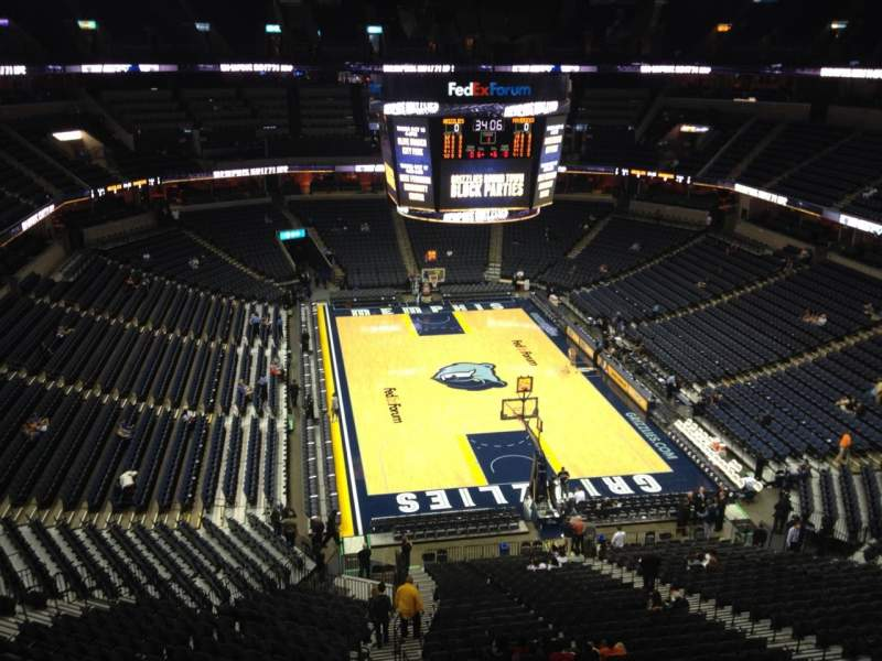 Seating view for FedEx Forum Section 232 Row A Seat 20