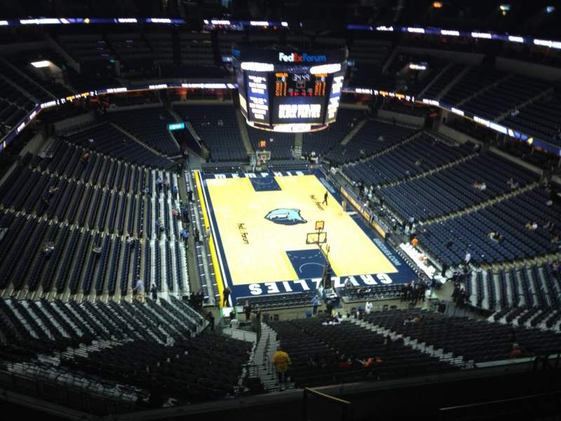Seating view for FedEx Forum Section 231 Row F Seat 1