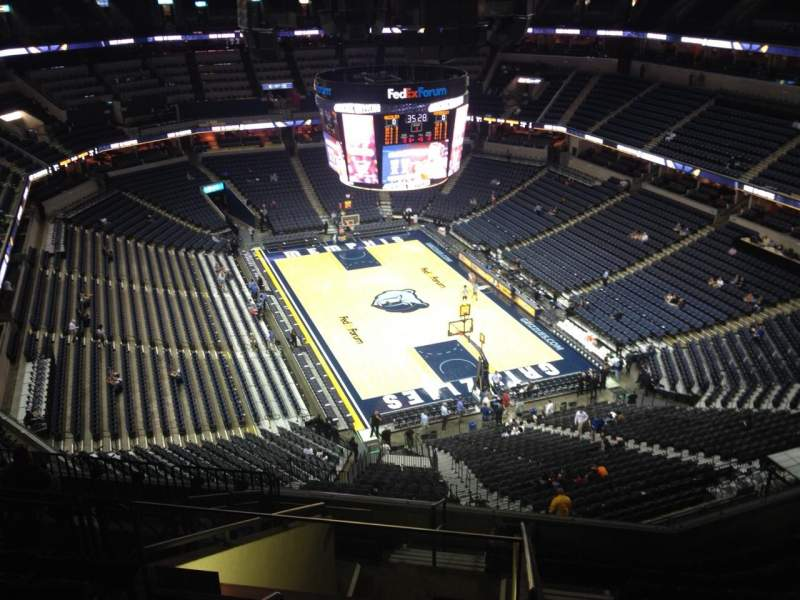 Seating view for FedEx Forum Section 231 Row L Seat 17