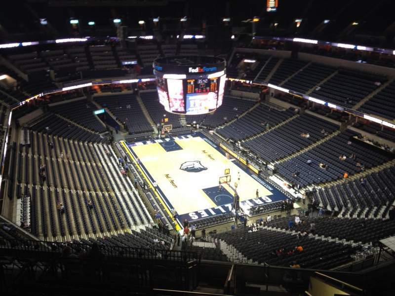 Seating view for FedEx Forum Section 230 Row N Seat 1