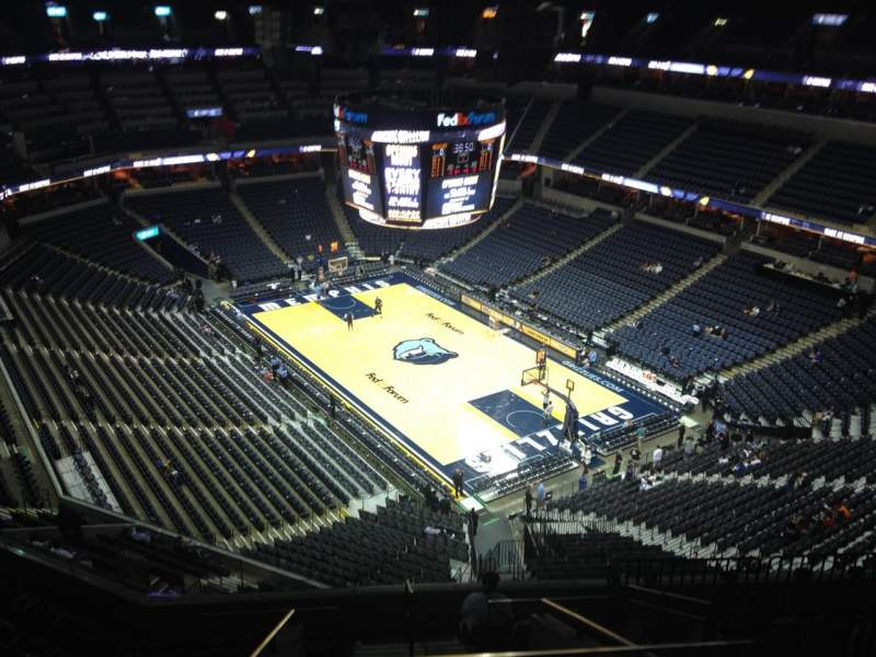 Seating view for FedEx Forum Section 230 Row K Seat 1
