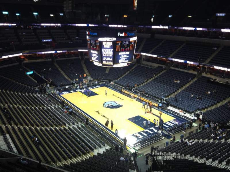 Seating view for FedEx Forum Section 229 Row C Seat 1
