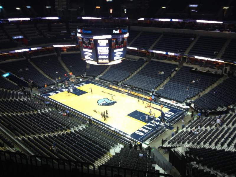Seating view for FedEx Forum Section 228 Row F Seat 1