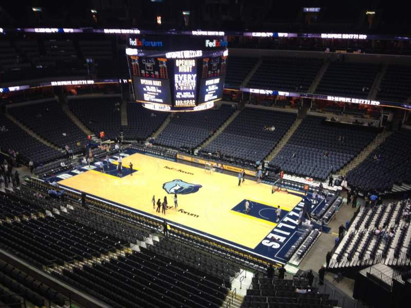FedEx Forum, section: 228, row: A, seat: 2