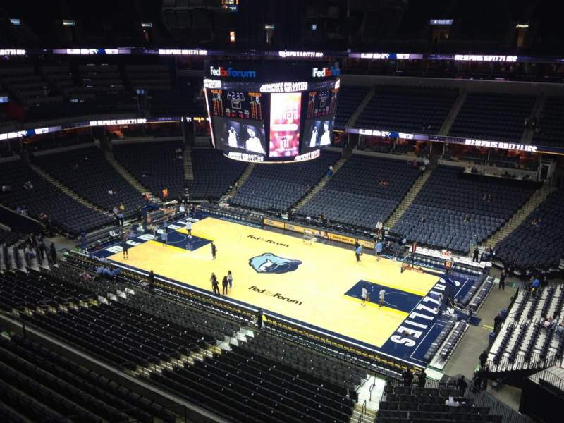 Seating view for FedEx Forum Section 227 Row B Seat 1
