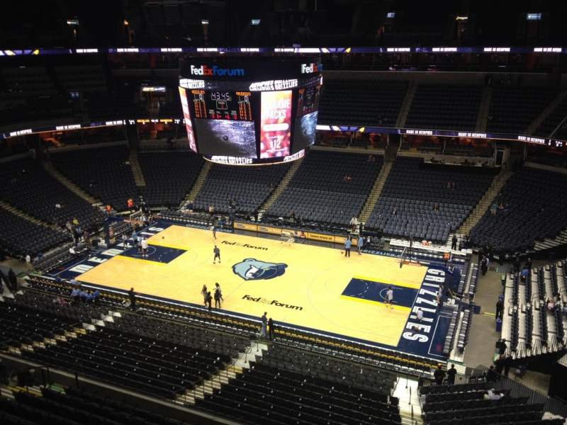 Seating view for FedEx Forum Section 226 Row B Seat 1