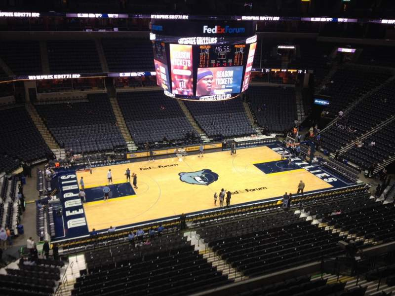 Seating view for FedEx Forum Section 223 Row A Seat 9