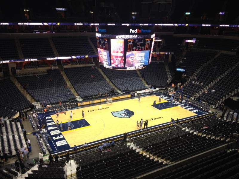 FedEx Forum, section: 222, row: A, seat: 4