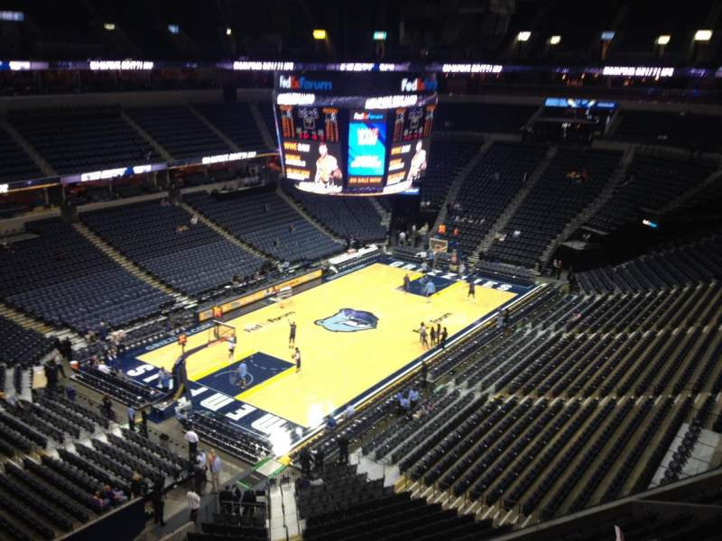 Seating view for FedEx Forum Section 220 Row A Seat 6