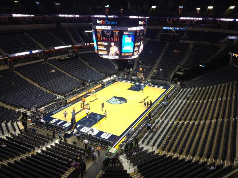 Seating view for FedEx Forum Section 219 Row A Seat 10