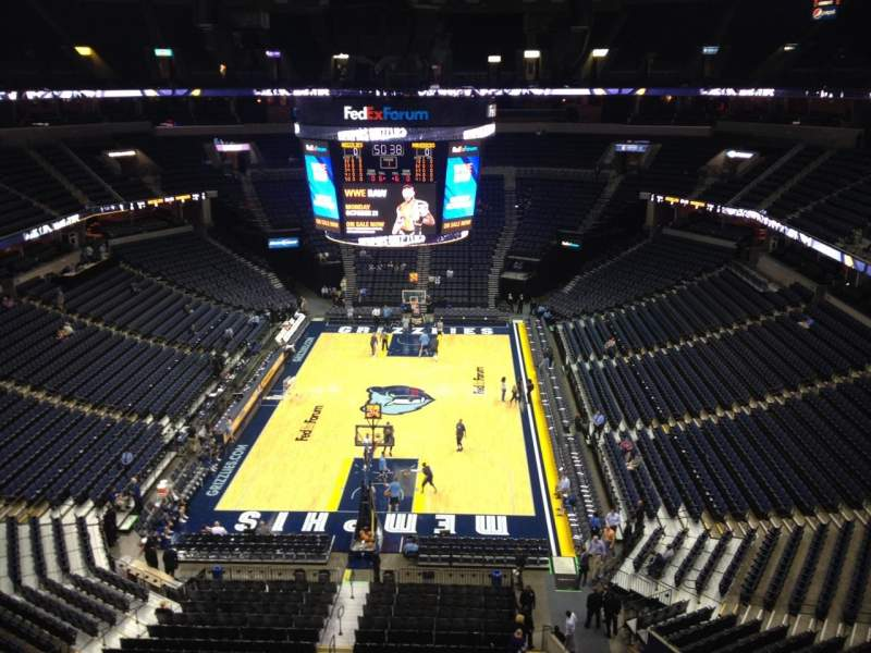 Seating view for FedEx Forum Section 217 Row A Seat 12