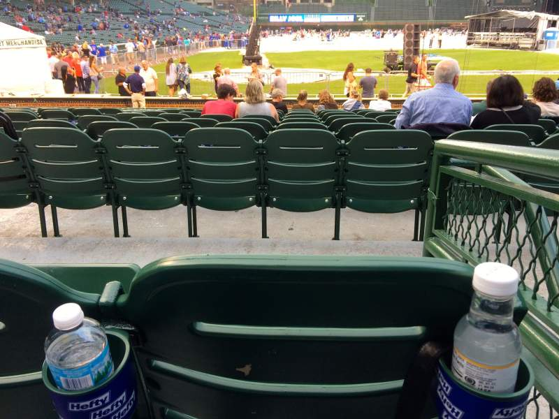 Wrigley Field, section: 124, row: 2, seat: 10